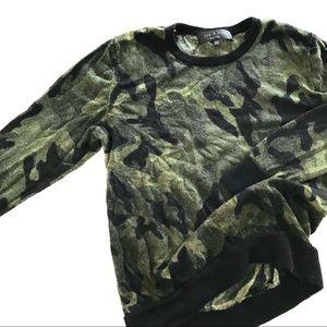 Rag & Bone Medium Camo Crew Sweater